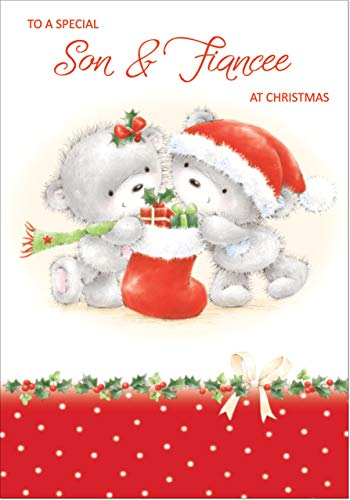 Doodlecards Son & Fiancee Cute Christmas Card - Medium Size from Doodlecards