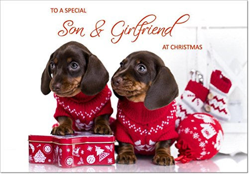 Doodlecards Son & Girlfriend Christmas Card - Medium Size from Doodlecards