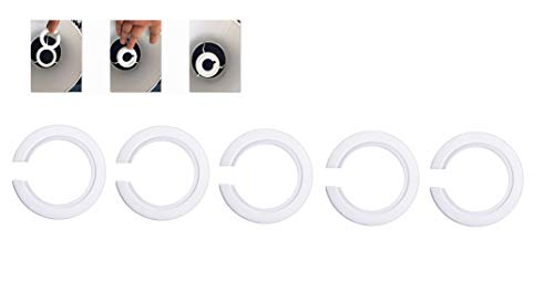 5Pack E27 to E14 Lamp shade Ring Converter,42mm To 29mm To Support Lamp Shade with Duplex Ring Fitting from Doooitlight
