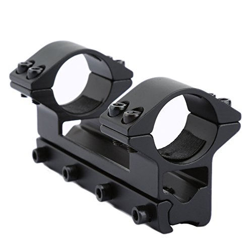 "High Porfile 1"" 25.4mm Dual Ring Scope Rifle Mount Base with 11mm Dovetail Rail from Dophee"