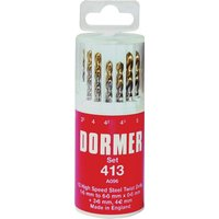 Dormer A094419 HSS Drill Set Plastic Case A096 No.419 19 Piece from Dormer