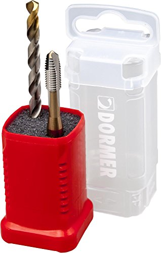 Dormer Set E002 Taps and A002 Drill bits with 118 Degree Tin Tipped Split Point, Tap Size M12 from Dormer