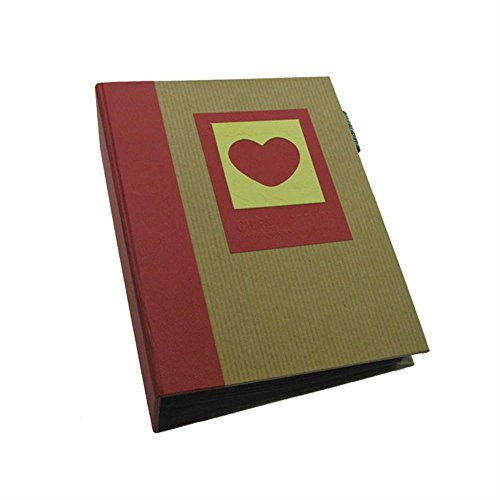 Dorr Green Earth Red Heart Mini Max 7x5 Slip Album-120 Photos, Fabric, 17 x 6 x 20 cm from Dorr