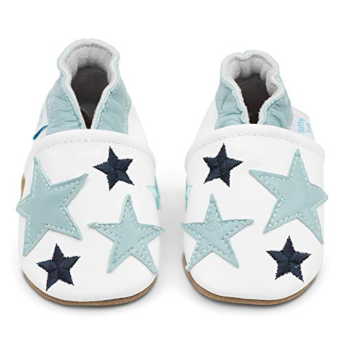 f5c474051c3a Dotty Fish Soft Leather Baby Shoes with Non Slip Suede Soles. 6-12 Months