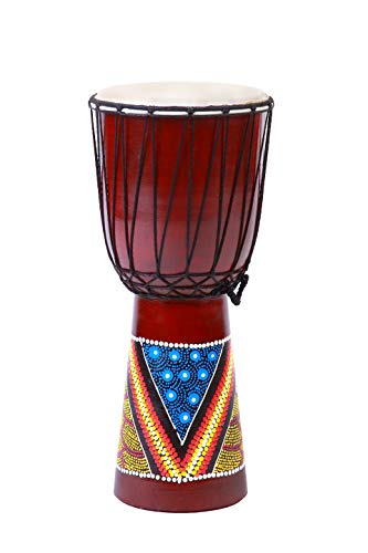 DJEMBE DRUM 20cm Height Wooden Professional Bongo Fair Trade from Double Duck products