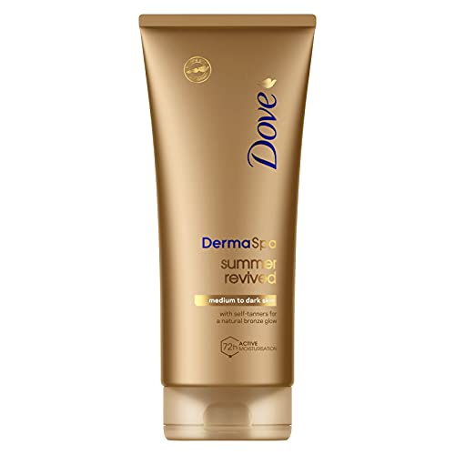 Dove DermaSpa Summer Revived Medium to Dark Self Tanning Body Lotion 200 ml from Dove