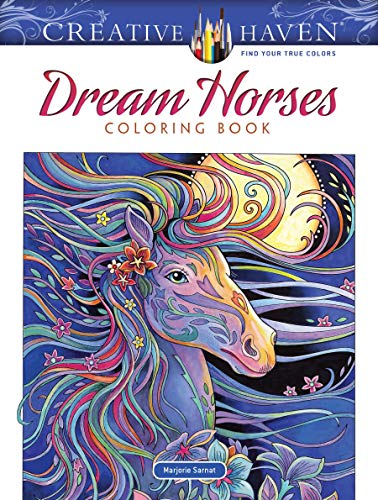 Creative Haven Dream Horses Coloring Book (Adult Coloring) from Dover Publications Inc.