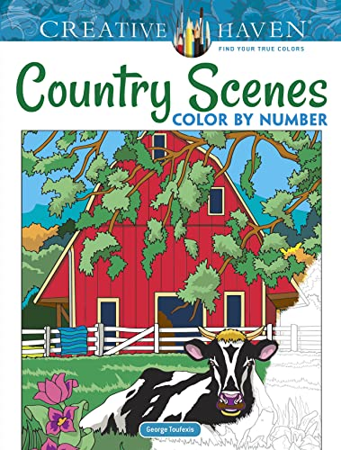 Creative Haven Country Scenes Color by Number (Adult Coloring) from Dover Publications Inc.
