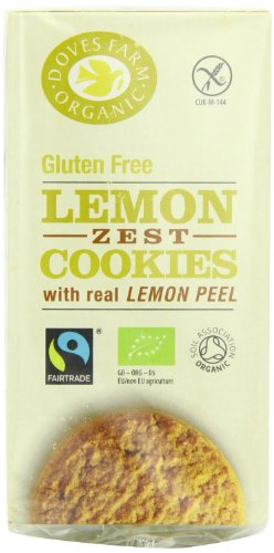 Doves Farm Fairtrade Organic Gluten Free Lemon Zest Cookies (150g) - Pack of 2 from Doves Farm