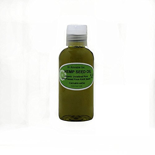 Hemp Seed Oil Pure Organic Cold Pressed by Dr.Adorable 4 oz from Dr Adorable