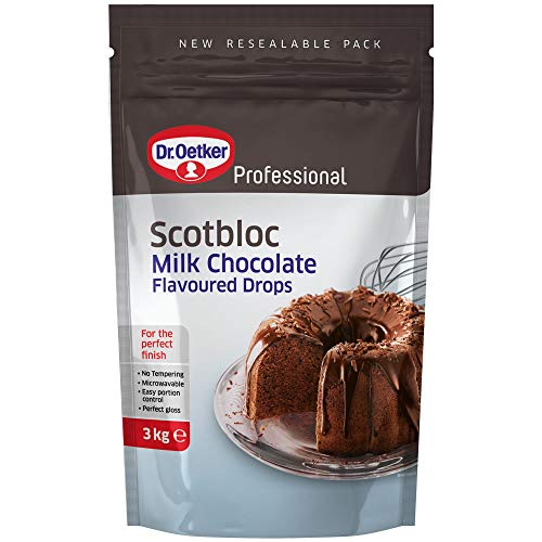 Dr Oetker Scotbloc Milk Chocolate Drops - Pack Size = 1x3kg from Dr. Oetker