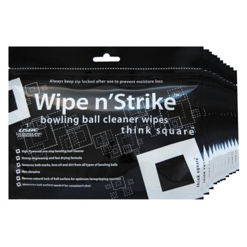 Dr. Wipe Cleaner Wipes Bowling Ball Cleaner Wipes Set of 6 from Dr.Wipe