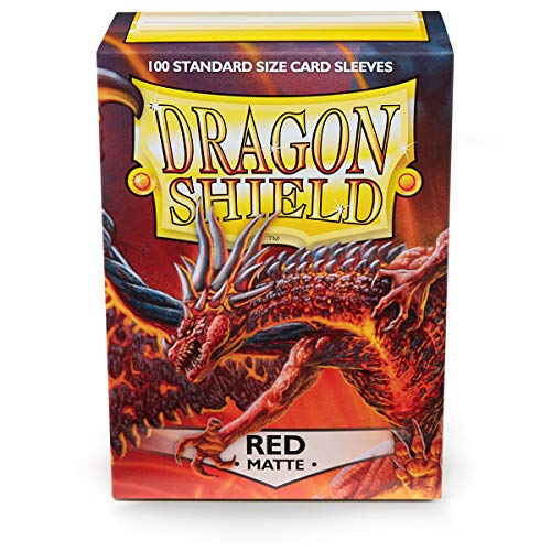 Dragon Shield Standard Sleeves (Matte Red) from Dragon Shield