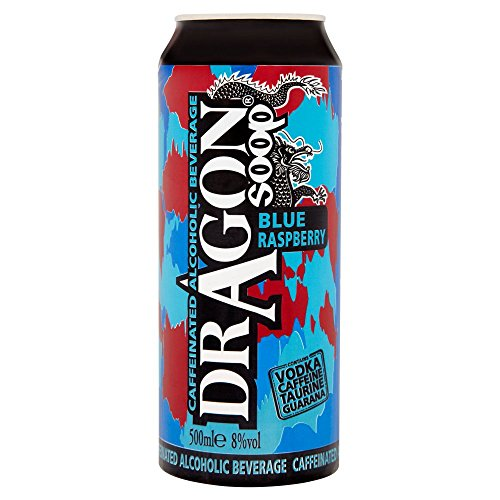 Dragon Soop Blue Raspberry Caffeinated Alcoholic Beverage (8 x 500ml Cans) from Dragon Soop