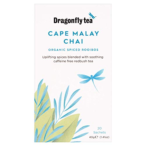 Dragonfly Organic Cape Malay Chai 20 Tea Sachets (Pack of 4, Total 80 Sachets) from Dragonfly Organic Cape Malay Chai