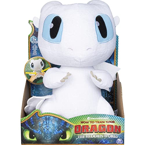 DreamWorks Dragons Squeeze & Growl Lightfury 10-inch Plush with sounds from Dragons