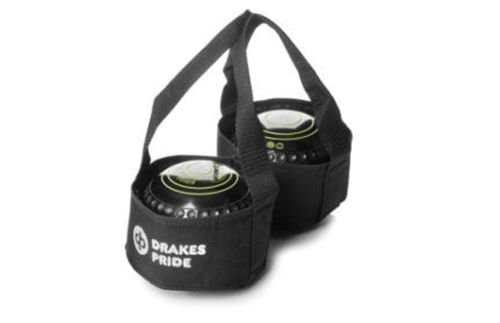 DRAKES PRIDE 2 BOWL CARRIER FOR FLAT GREEN OR CROWN GREEN BOWLS** (BLACK) from Drakes Pride