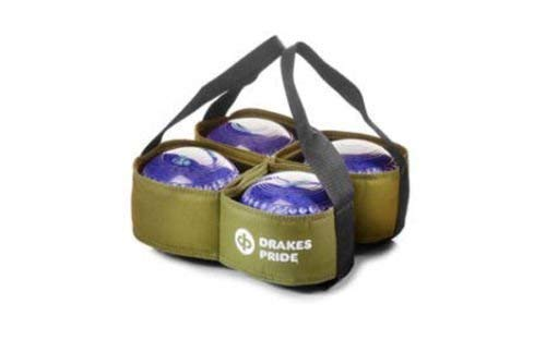 DRAKES PRIDE 4 BOWL CARRIER FOR CROWN GREEN / FLAT GREEN BOWLS** (GREEN) from Drakes Pride