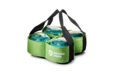 DRAKES PRIDE 4 BOWL CARRIER FOR CROWN GREEN / FLAT GREEN BOWLS** (LIME) from Drakes Pride