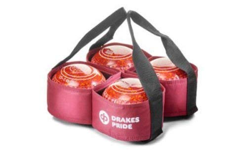 Drakes Pride 4 BOWL CARRIER FOR CROWN GREEN/FLAT GREEN BOWLS** (MAROON) from Drakes Pride