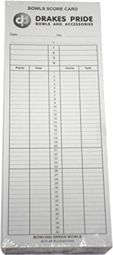 Drakes Pride Bowl Sports Match Playing Record Keeping Score Cards Pack Of 100 from Drakes Pride