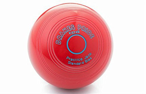 Drakes Pride CROWN GREEN PRACTICE JACKS AVAILABLE IN VARIOUS COLOURS** (RED) from Drakes Pride