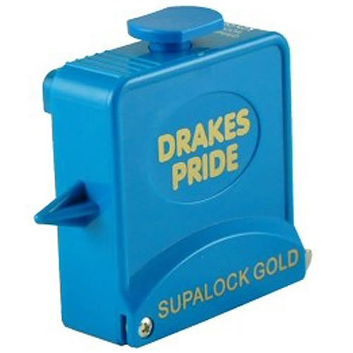 Drakes Pride Supalock Gold bowls measure - aqua from Drakes Pride
