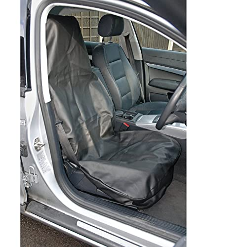 Draper SC-03 Side Airbag Compatible Heavy Duty Front Seat Cover, Blue from Draper