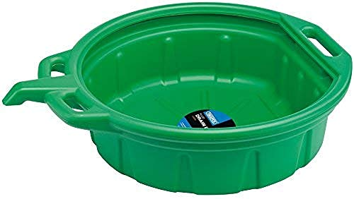 Draper 23259 Fluid Drain Pan, 16L, 450mm Ø, Green from Draper
