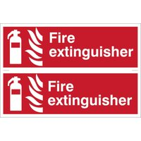 Draper Fire Extinguisher Sign Pack of 2 300mm 100mm Standard from Draper