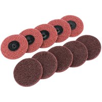 Draper Polycarbide Abrasive Pad Disc 75mm 75mm Medium Pack of 10 from Draper