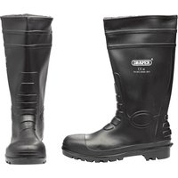 Draper Mens Safety Wellington Boots Black Size 10 from Facom