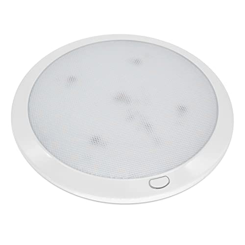 Dream Lighting 12v LED Ceiling Lights Fixtures In Caravan Motorhome Camper Boat Yacht Dimmable Round Main Lamp 216mm Warm White from Dream Lighting