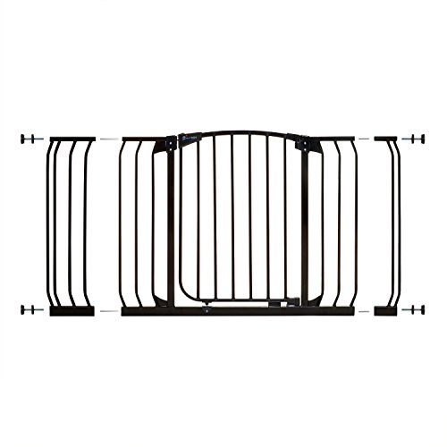 Dreambaby Chelsea Xtra-Wide Gate Set - 1 gate + 2 extensions (Fits 97cm-133cm) Black from Dreambaby