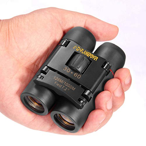 DFlamepower mini 30x60 Compact Folding Binoculars Telescope waterproof for adults/kids/Bird watching/travelling/Concerts/hunting, etc from DFlamepower