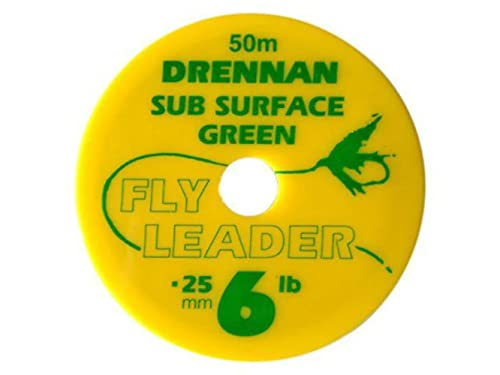 50m Drennan Subsurface Fly Line Tippet Leader Material - Green -  5lb from Drennan