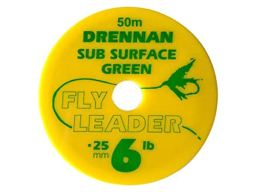 50m Drennan Subsurface Fly Line Tippet Leader Material - Green - 8lb from Drennan