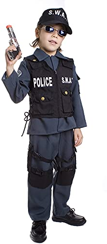 Deluxe Children's S.W.A.T. Police Officer Costume Set - Small from Dress up America