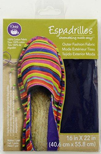 Dritz Espadrille Basic Outer Fabric 16 x 22-inch-Navy Blue from Dritz