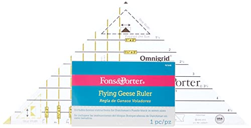 Dritz Fons and Porter Super Flying Geese Ruler from Dritz