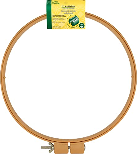 Dritz 3202 Quilting No-Slip Hoop 12-inch, Natural from Dritz