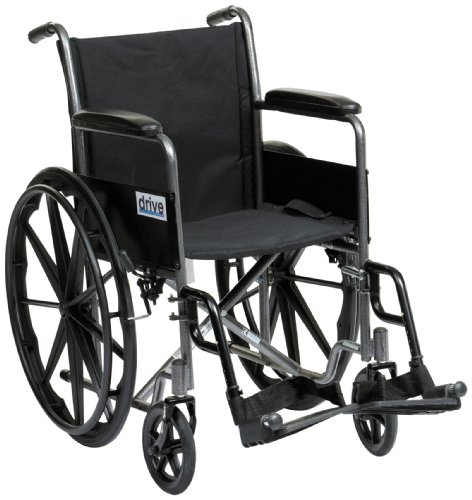 Drive  Self Propel Silver Sport Wheelchair, 18 Inch Seat Width from Drive DeVilbiss Healthcare