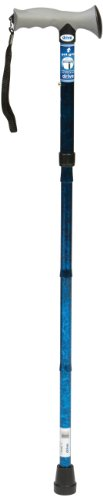 Drive DeVilbiss Healthcare Folding Walking Stick with Gel Grip Handle (Blue) from Drive DeVilbiss Healthcare