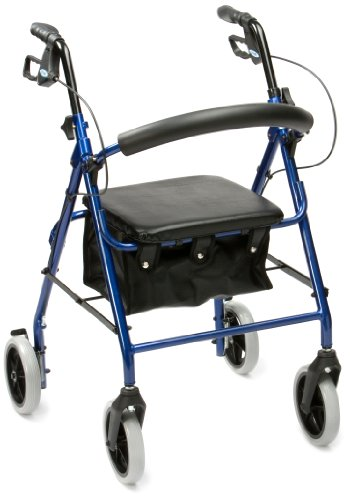 Drive DeVilbiss Healthcare R8 Blue Aluminium Rollator with Padded Seat and Vinyl Underseat Bag <7kg from Drive DeVilbiss Healthcare