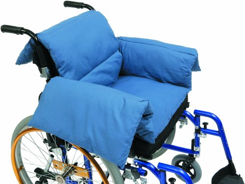 Drive DeVilbiss Healthcare T-Shaped Pillow Cushion in Blue Suitable for Electric / Manual Wheelchair from Drive DeVilbiss Healthcare