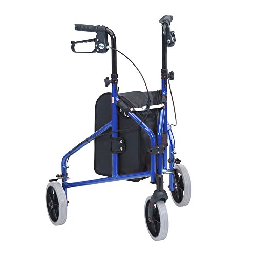 Drive DeVilbiss Healthcare TW008B Ultralight Aluminium Blue Tri-Walker with Vinyl Bag from Drive DeVilbiss Healthcare