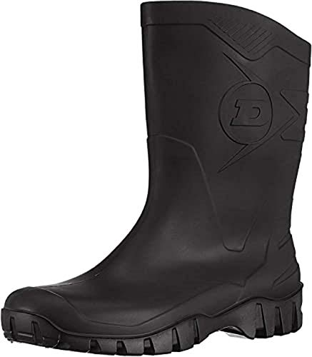DUNLOP Short Leg Half-Height Wellies Easier On & Off Good For Wider Calf Fitting,Black,8 UK from Dunlop