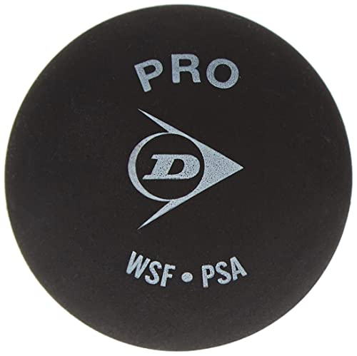 Dunlop Unisex Adult Pro Yellow Dot Squash Balls - Black, One Size from Dunlop
