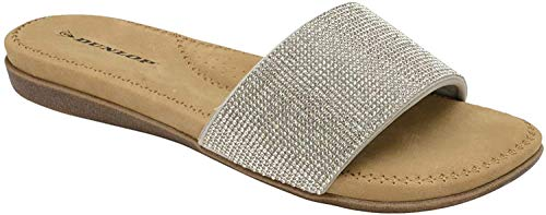 5a2fe82c5 Dunlop Womens Glitter Cushioned Flip Flops - Eleanor - Silver - UK 6 from  Dunlop. found at Amazon Marketplace