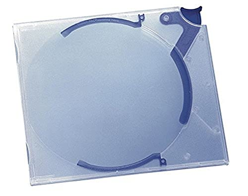 Durable Quickflip Standard 528806 CD/DVD Case for 1 Disk Polypropylene 142 x 126 x 29 mm - Transluscent Blue (Pack of 10) from Durable